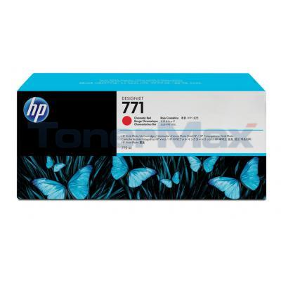 HP NO 771 DESIGNJET INK CART CHROMATIC RED 775ML